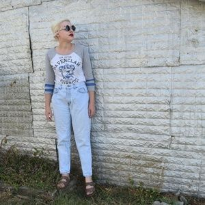 Vintage Chic Faded Wash Jeans